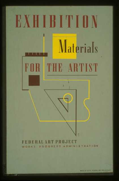 Exhibition – Materials for the artist / J.R. (1936)