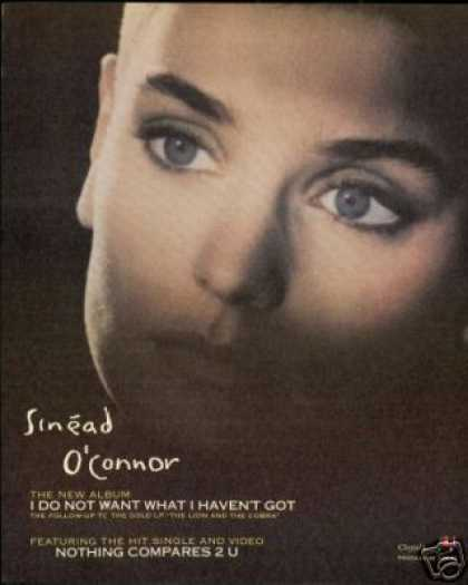 Sinead O'Connor Photo Vintage Record (1990)