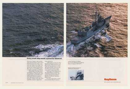 Raytheon Sidekick ECM USS Reid Ship Photo (1990)