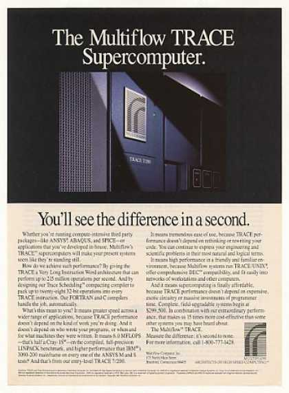 Multiflow TRACE Supercomputer Computer (1987)