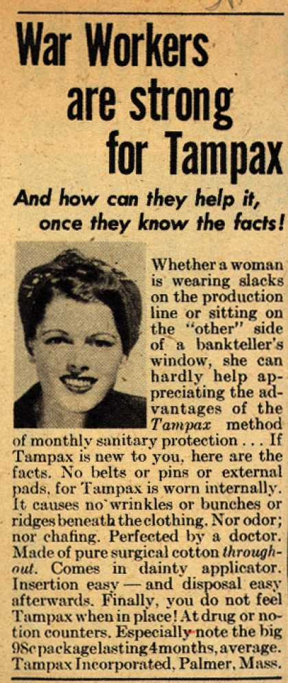 Tampax's Tampons – War Workers are strong for Tampax (1944)