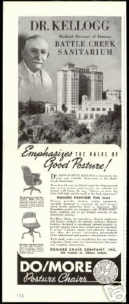 Battle Creek Sanitarium Do/more Domore Chair Co (1940)