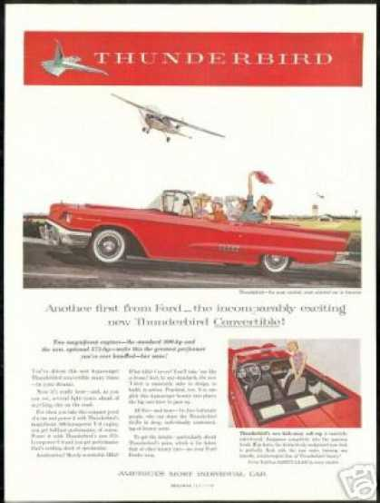 Red Ford Thunderbird Convertible 4 Passenger (1958)