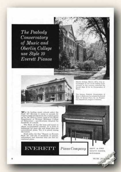 Oberlin College Photo Everett Piano (1958)