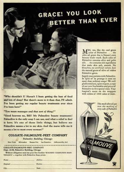 Colgate-Palmolive-Peet Company's Palmolive Soap – Grace! You Look Better Than Ever (1933)