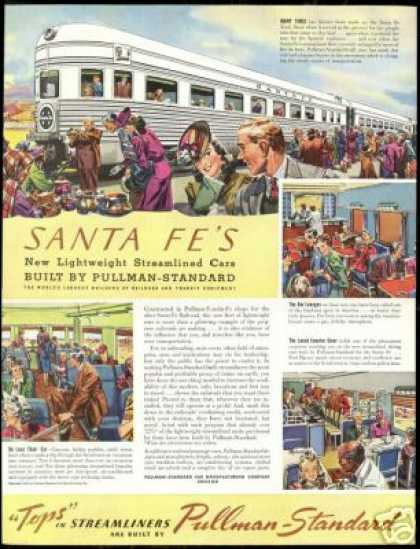 Santa Fe Pullman Standard Train Railroad (1940)