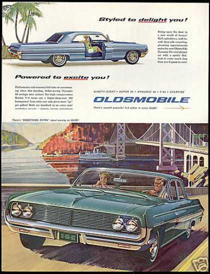 Oldsmobile Dynamic 88 2 & 4 Dr Bridge Art (1962)