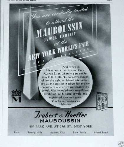 Old , Mauboussin Jewels! Ny Fair (1939)