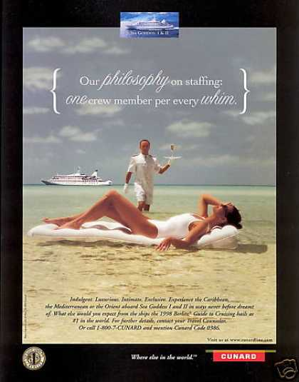 Cunard Cruise Line Sea Goddess I & II Photo (1998)