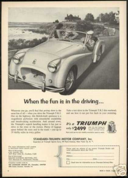 TR2 TR-2 Vintage Photo Driving Fun Car (1955)