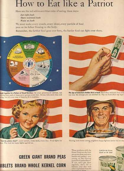 Green Giant's Peas and Whole Kernel Corn (1944)