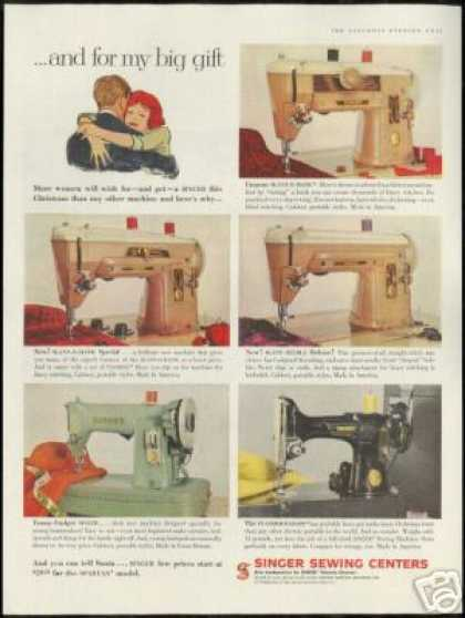 Singer Sewing Machine Photo Vintage Models (1959)