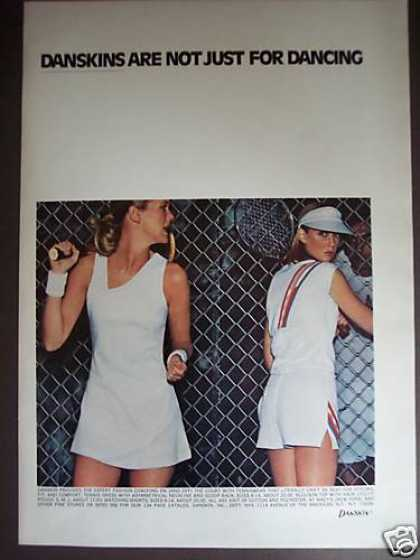 Danskin Tennis Fashion Photo (1977)