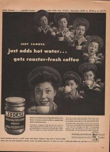 Nescafe Nestle Fresh Instant Coffee (1946)