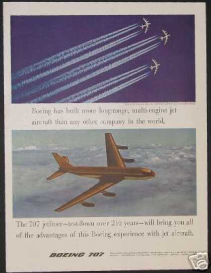 Boeing 707 Airplane Jetliner & B-52s Jetstream (1957)