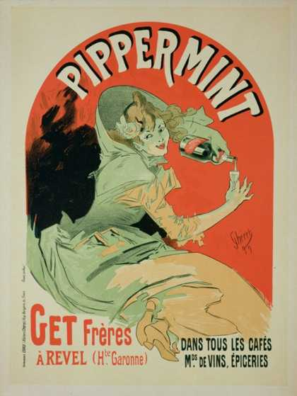 "Reproduction of a Poster Advertising ""Pippermint,"" (1899)"