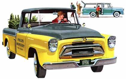 International A100 in Sunshine Yellow and Driftwood Grey (1958)