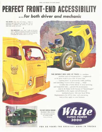 White Super Power 3000 Truck Panel Tilt Front (1949)