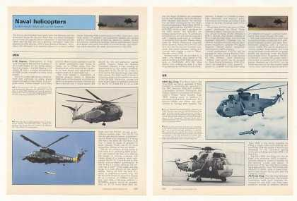 USA UK Canada France Navy Helicopter Photo Article (1987)