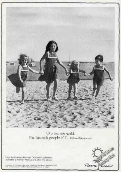 Florence Eiseman Children On Beach Fashion (1983)