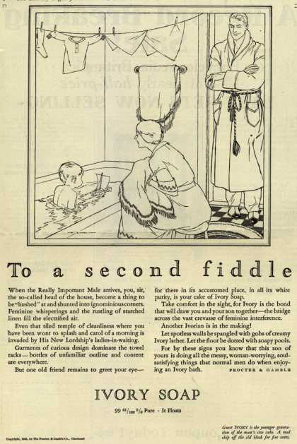 Procter & Gamble Co.'s Ivory Soap – To a second fiddle (1925)