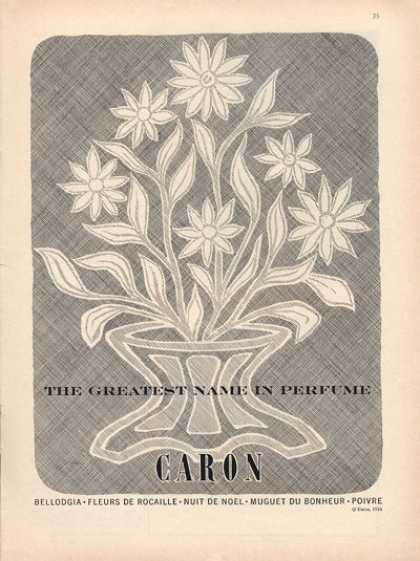 Caron Perfume Bouquet Flowers Artwork (1956)