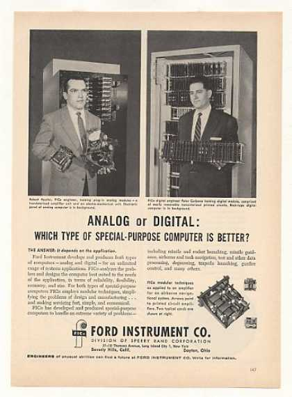 Ford Instrument FICo Analog Digital Computers (1957)