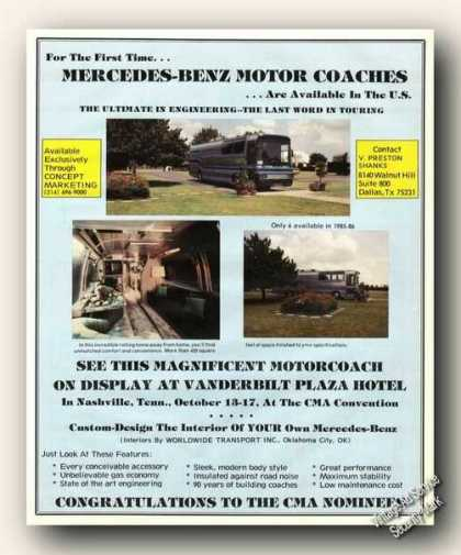 Mercedes-benz Motor Coaches Color Photos (1985)