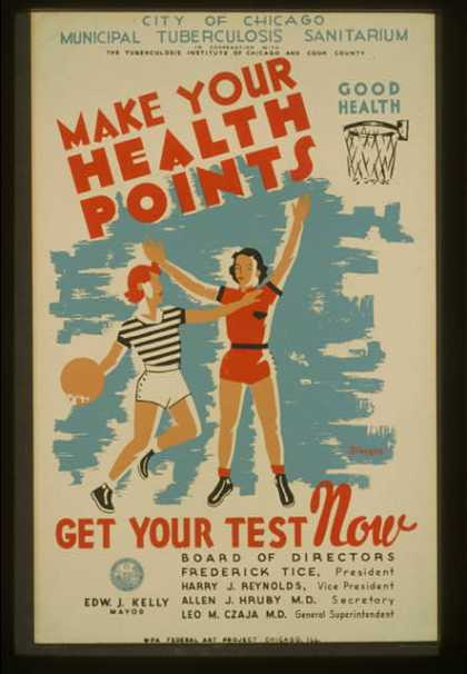 Make your health points – get your test now / Kreger. (1936)