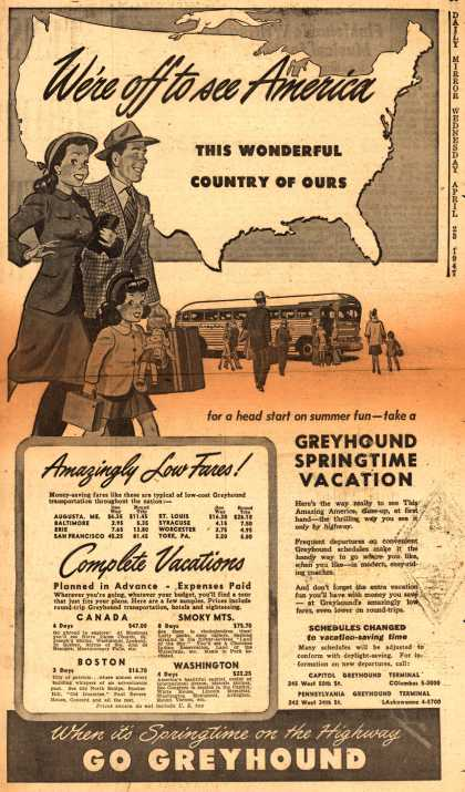 Greyhound – We're off to see America, This Wonderful Country of Ours (1947)