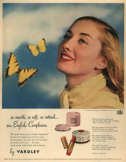 Yardley of London's Various – so smooth, so soft, so natural...an English Complexion (1948)