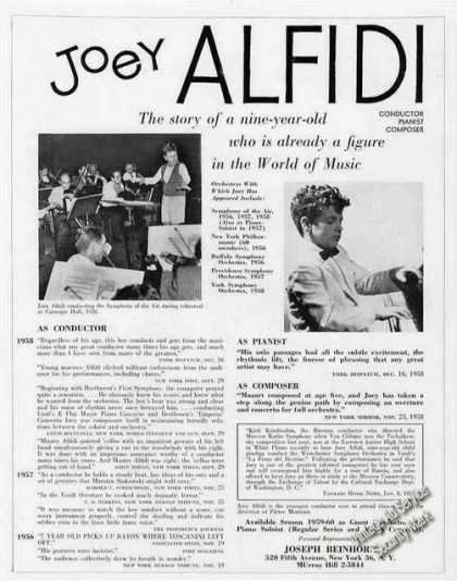 Joey Alfidi Photos 9 Yr Old Conductor/piani (1959)