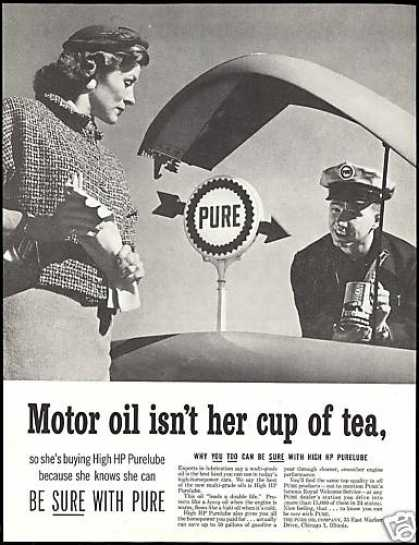 Pure Oil Co Purelube Gas Station Attendant (1957)