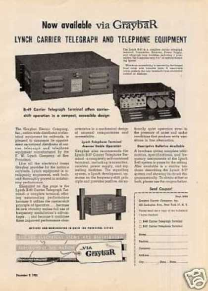 Graybar Telegraph & Telephone Equipment (1950)
