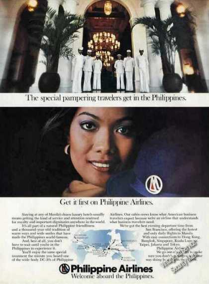 Philipine Airlines Pampering Beautiful Woman (1978)