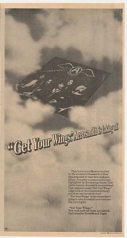 Aerosmith Get Your Wings Columbia Records (1974)