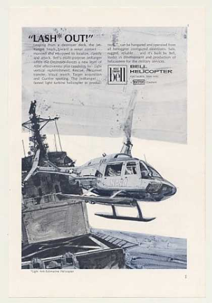 US Navy Bell JetRanger Helicopter LASH Out (1968)