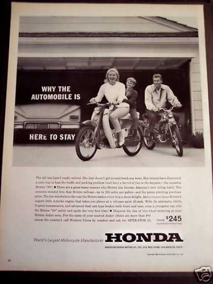 Family Riding Honda Motorcycles (1963)