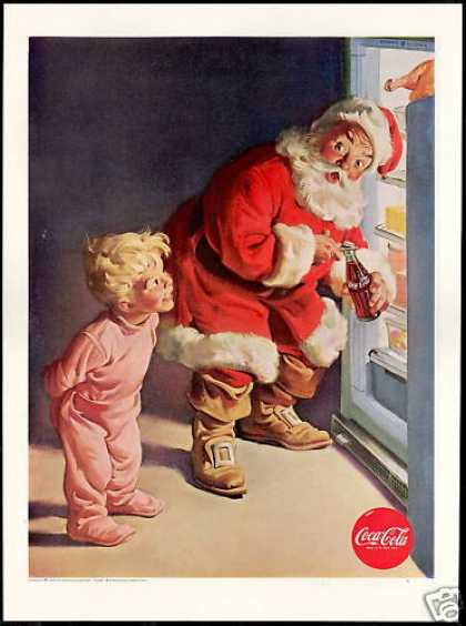 Coke Coca Cola Santa Boy G.E General Electric (1959)