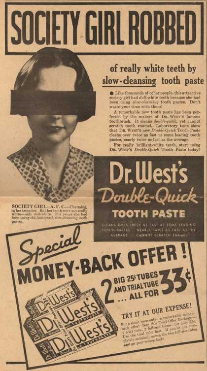 Dr. West's – Society Girl Robbed (1934)
