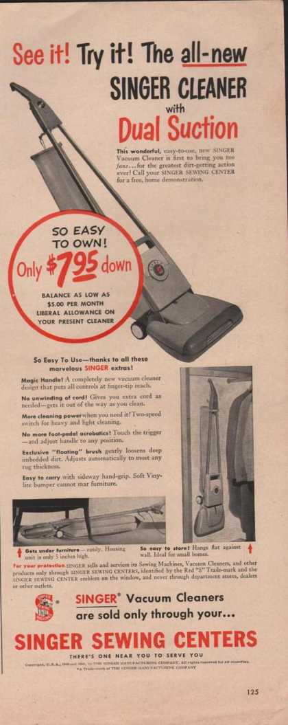 Singer Vacuum Cleaner Dual Suction (1950)