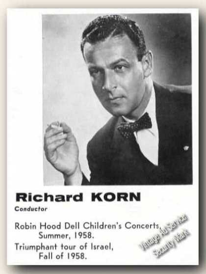 Richard Korn Photo Conductor Ad Music (1959)