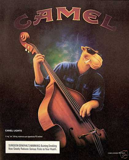 Upright Bass Smoking Joe Camel Cigarette (1996)