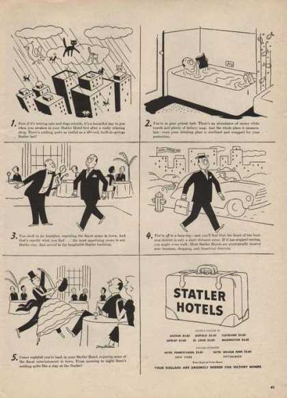 Statler Hotels Cartoon (1946)