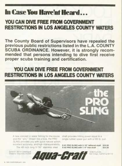Aqua-craft Pro Sling Spear Fishing (1976)