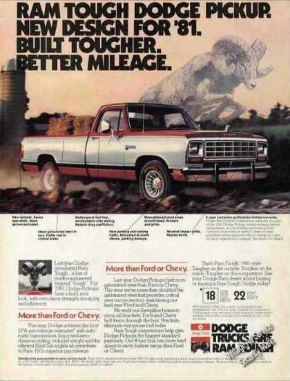 "Ram Tough Dodge Pickup ""New Design"" Nice Truck (1981)"