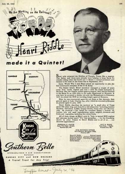Kansas City Southern Lines – Henri Riddle made it a Quintet (1946)