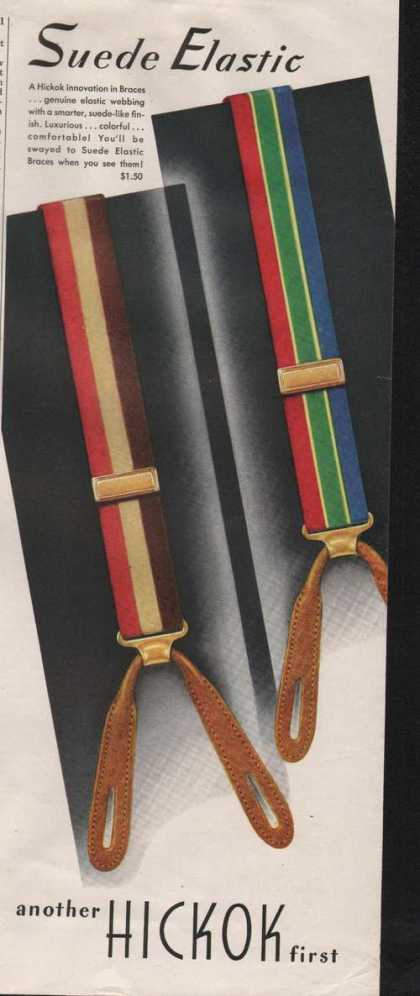Suede Elastic Braces By Hickok (1946)
