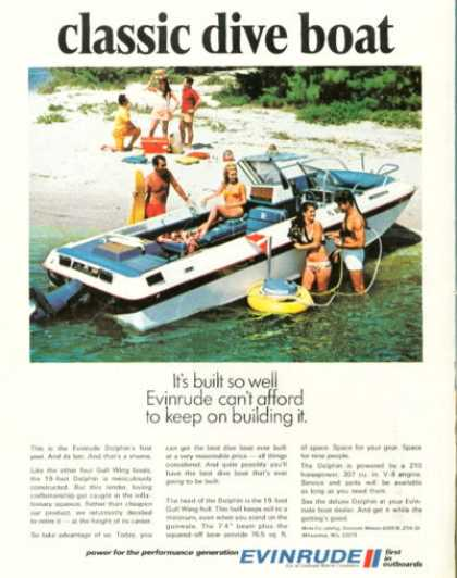 Evinrude Dolphin Gull Wing Dive Boat (1970)