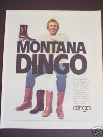 Joe Montana Dingo Leather Boots Men's Fashion (1983)
